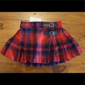 Gap NWT Plaid Skirt 12-18M
